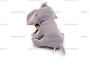 Музыкальный слоник, с обезьянкой, MT2-4254, фото