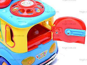 Музыкальный сортер «Машинка», 722-733, детские игрушки