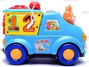 Музыкальный сортер «Машинка», 722-733, магазин игрушек