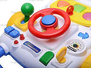 Музыкальный стол с рулем, 33875W, детские игрушки