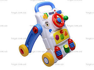 Музыкальный стол с рулем, 33875W, toys