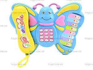 Музыкальный телефон для детей «Бабочка», 2014, игрушки