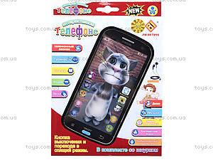 Музыкальный телефон для детей «Кот Том», JD-101A, цена