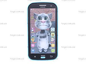 Музыкальный телефон для детей «Кот Том», JD-101A, игрушки