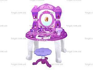 Музыкальный туалетный столик со стульчиком, 383-028A, магазин игрушек