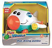 Музыкальный игрушечный самолет для детей, K31519
