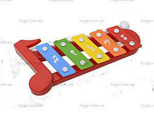 Музыкальный инструмен для настроения, ксилофон, 5200-29, детские игрушки