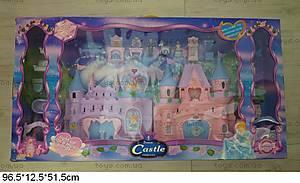Музыкальный замок, с куклами и мебелью, 8023