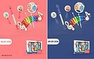 Набор музыкальных инструментов 5 штук (2 цвета), QY-2036
