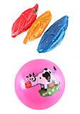 """Мяч 23 см разноцветный """"Животные"""" 4 рисунка 4 цвета, BT-PB-0158, купить"""