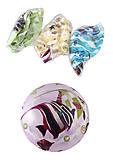 """Мяч 9 дюймов """"Рыбки"""" 4 цвета , BT-PB-0162, фото"""