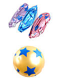 """Мяч 9 дюймов """"Блестящие звезды"""", в ассортименте, BT-PB-0142"""