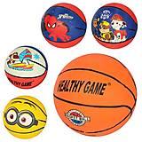 Мяч баскетбольный размер 3, резина, рисунок-печать, микс видов, VA-0001-3, іграшки