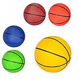 Мяч баскетбольный размер 7, резина, 5 цветов, VA-0017-1, детский
