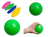 Мяч детский с шипами, разные цвета, 466-526D