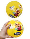 Детский мячик с рисунком, цветной, 3118