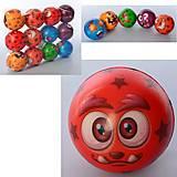 """Мяч детский фомовый 7,6см """"Рожицы"""" 6 видов (12шт в упак), MS3268, отзывы"""