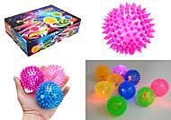 Мяч-ежик со световыми эффектами, 12 штук, 33388R, набор