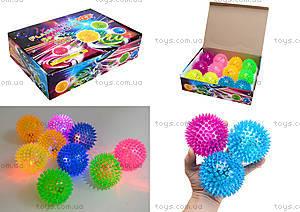 Детский мяч-ежик со световыми эффектами, 33888S