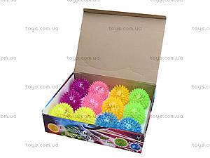 Детский мяч-ежик со световыми эффектами, 33888S, детские игрушки