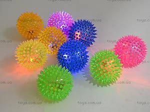 Детский мяч-ежик со световыми эффектами, 33888S, toys