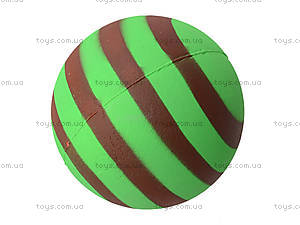 Мяч фомовый для детей «Полосатый», 6324-14, детские игрушки