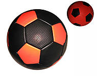 Мяч футбольный 2-х слойный (черно-оранжевый), BT-FB-0184, фото