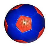 Мяч футбольный 2-х слойный с ниткой (синий), BT-FB-0184, фото