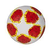 Мяч футбольный (бело-красный) в пакете, КВ-077, набор