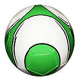 Мяч футбольный (бело-зеленый), BT-FB-0189