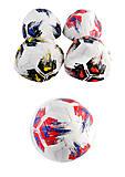 Мяч футбольный 3-х слойный с ниткой, 350 г, цвета в ассортименте, BT-FB-0219, toys