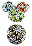 Мяч футбольный классический PVC размер №2 100г (6 цветов), BT-FB-0285, набор