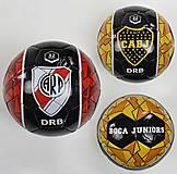 Мяч футбольный с эмблемами, 22061, фото