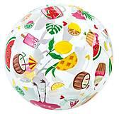 Мяч надувной 51 см,«Фрукты», 59040, toys