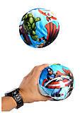 Мяч обтянутый тканью с рисунком «Супергерои MARVEL», V06015