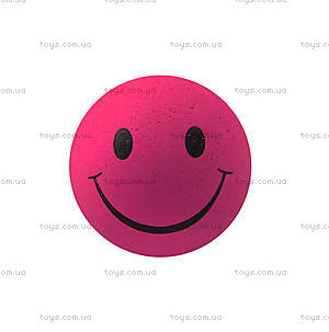 Мяч-попрыгун «Смайл» розовый, R359