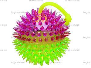 Мячик с подсветкой «Ёжик», SL626, игрушки