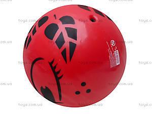 Мяч резиновый с декором, 004..008..016, игрушки