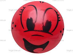 Мяч резиновый с декором, 004..008..016, детские игрушки