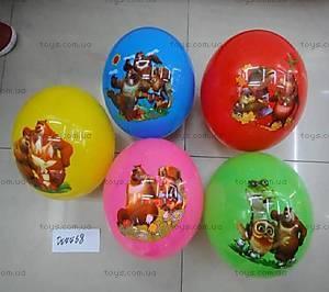Мяч резиновый в пяти видах, D04468