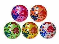 """Мяч резиновый 22см """"Слоники"""" 5 цветов , YW1887, фото"""