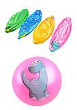 Мяч резиновый «Динозаврик» 5 цветов, CL12-08