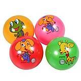 """Мяч резиновый """"Животные"""" 23 см 5 шт, BT-PB-0148"""