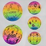 Мяч резиновый неоновый 5 видов 23 см (C40287), C40287, тойс