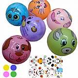 """Мяч резиновый перламутровый """"Мордочки"""" 23 см 5 шт, BT-PB-0117, купить"""