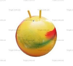 Мяч с рожками «Радуга», 75 см, Польша, отзывы
