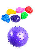 Мяч с шипами, резиновый, 10 см , MB0102, фото