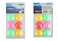 Мячи для настольного тенниса MIX 6 цветов, 6 мячей , TT2024, фото