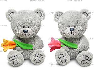 Мягкий медвежонок «Ники с тюльпаном», LA8786C