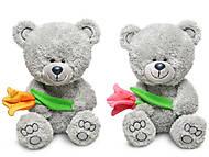 Мягкий медвежонок «Ники с тюльпаном», LA8786C, купить
